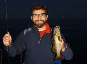 Jeremy fishing the plastics
